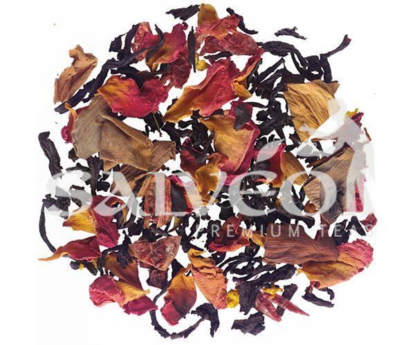 ΠΕΡΙΕΧΕΙ: μαύρο τσάι Super Pekoe Κεϋλάνης, τσάι Assam, κόκκινα και ροζ ροδοπέταλα, άνθη λωτού και όσμανθου, με γεύση ανανά - κεράσι.