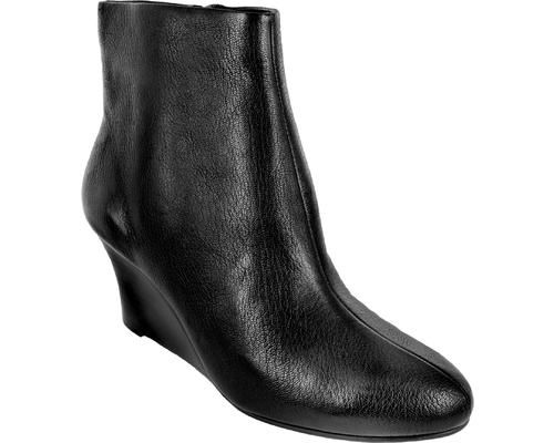2.5 Wedge Bootie Noir Leather  - 1