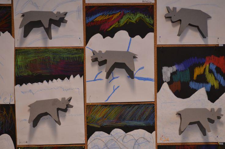 Kuvis ja askartelu - www.opeope.fi. Tunturinäkymiä! Pisara-kirjan opettajanoppaassa oli vinkki, johon yhdistin vanhaa poro-mallia.