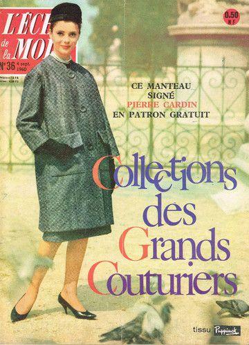 Echo DE LA Mode 36 DE 1960 Zizi Jeanmaire Haute Couture |