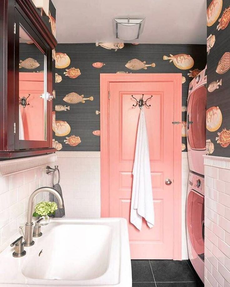 Pink Fish With Bold Wallpaper