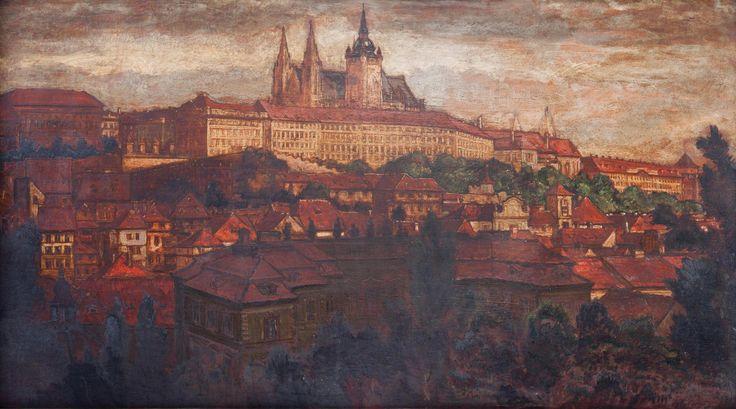 FERDINAND RUBEŠ Prague Castle Hradčany, 1928