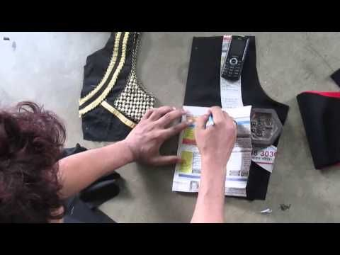 How to make Fashionable designer blouse E part 1 of 4 - YouTube