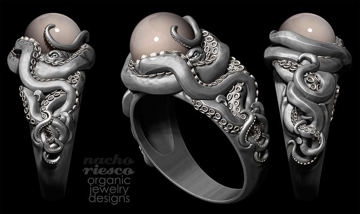 Outstanding 3d Sculpt! | octopus ring by Nacho Riesco