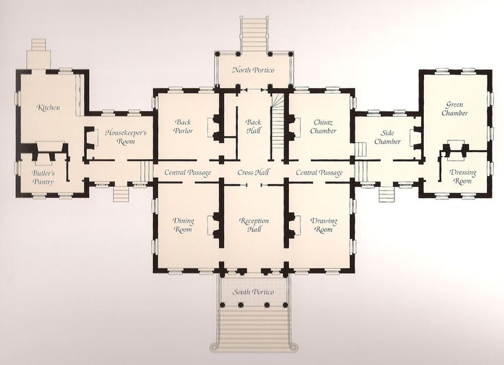 vintage house plan | the main floor plan of homewood image