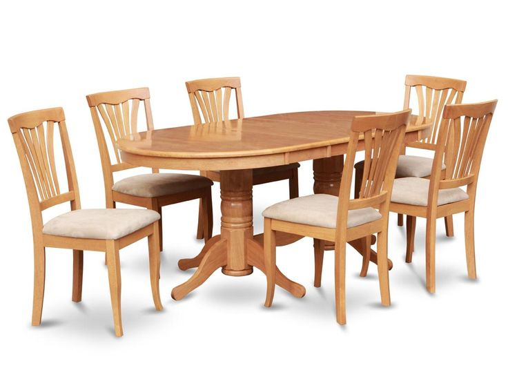 Details about 5 Pc Oval Kitchen Dining Room Set 42