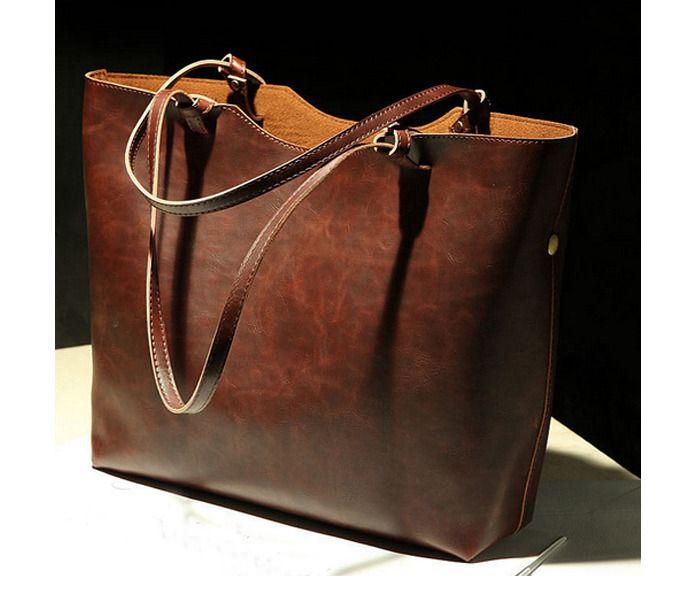 les femmes brunes sac à bandoulière sac brun  rétro sac : Sacs à main par saralidesign