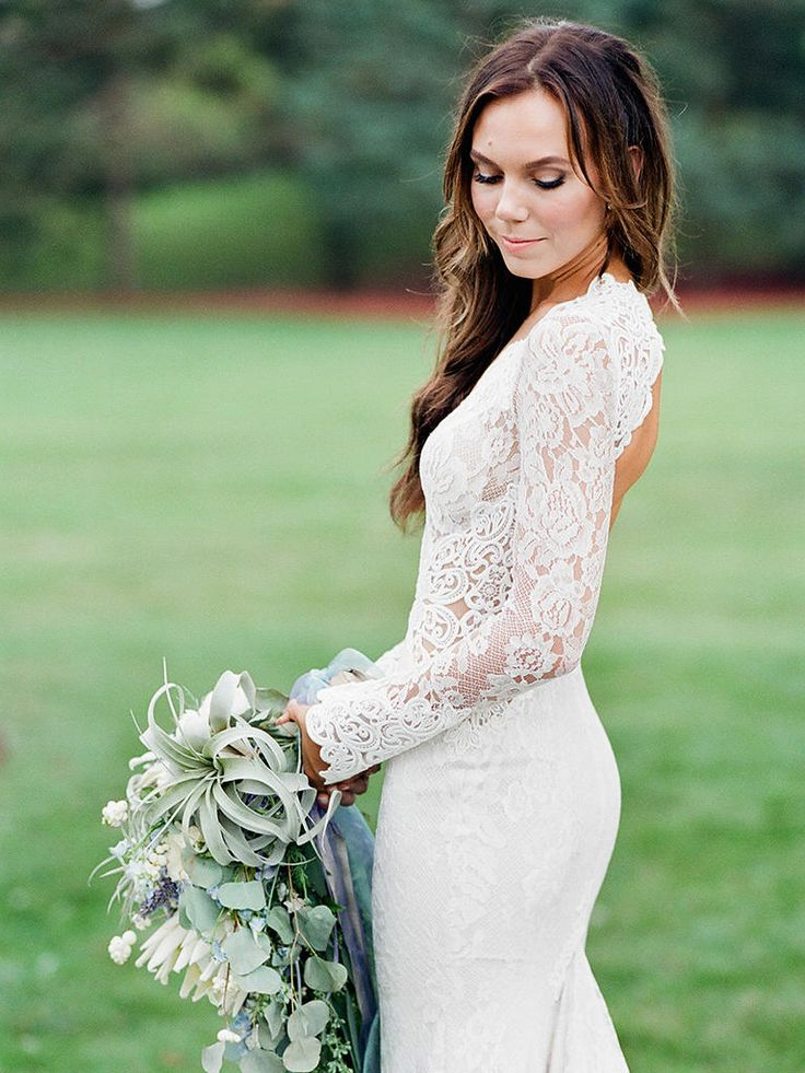 17 Boho Lace Wedding Dresses for the Free-Spirited Bride | TheKnot.com