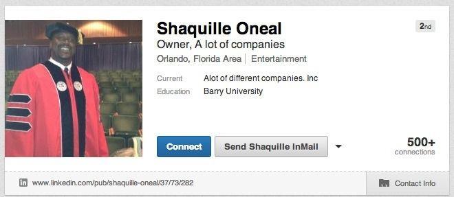 Shaq's LinkedIn Profile Belongs in the Internet Hall of Fame.