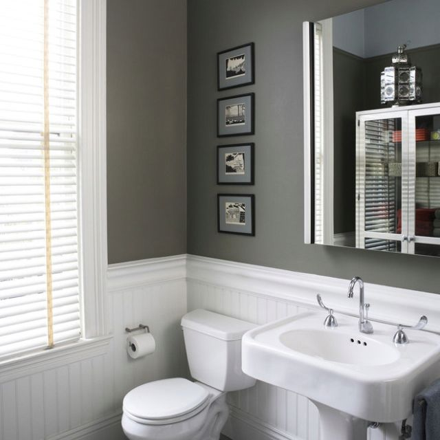 Wainscoting In Bathroom House Stuff Pinterest