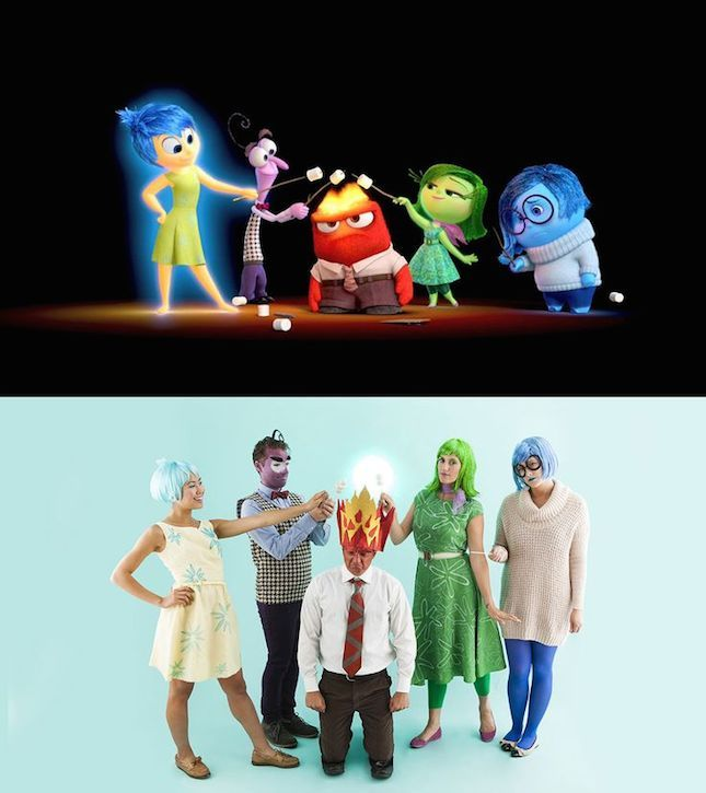 Use this tutorial to turn your gang into the characters of Inside Out for Halloween.