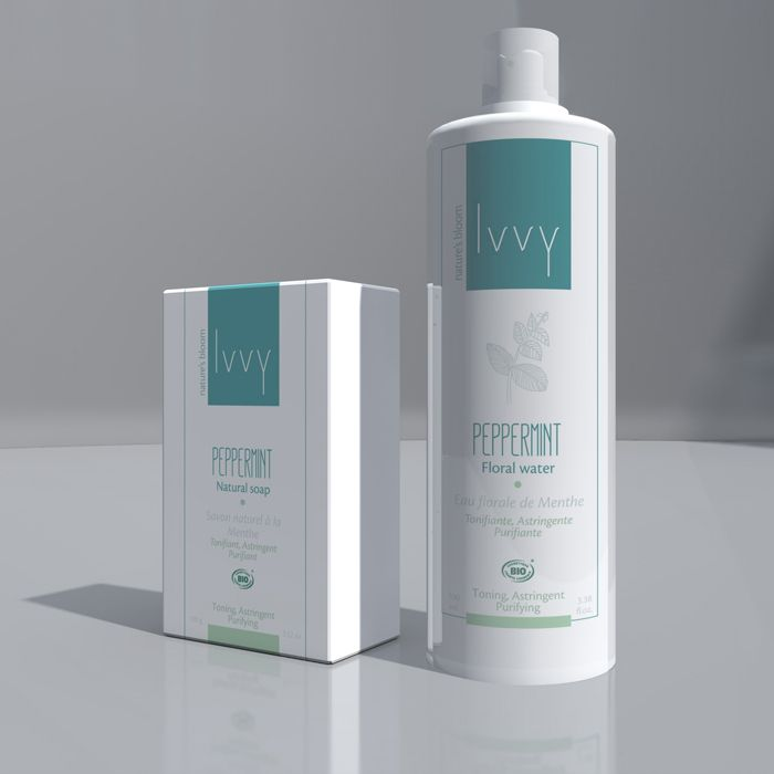 Ivvy bio cosmetics identity & packaging