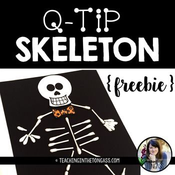 Happy Halloween! This Q-Tip Skeleton craft activity is perfect for Halloween! Includes teacher tips, skull and bow cut-out templates. Feedback isn't required, but it's very much appreciated!Click here to see more Halloween resources!