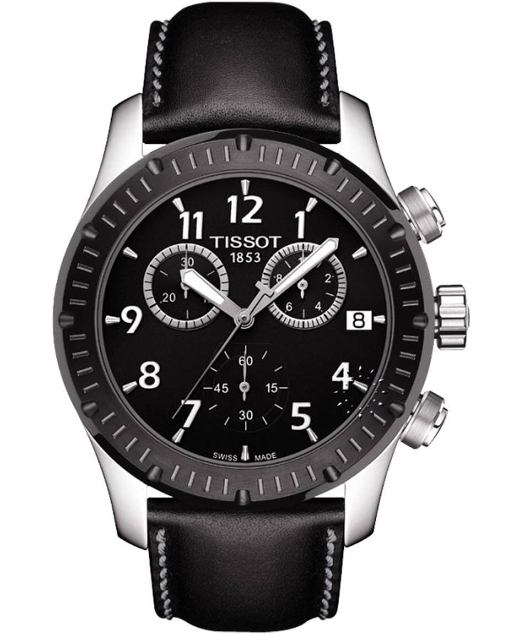 TISSOT SPORT V8 Black Leather Strap Η τιμή μας: 283€ http://www.oroloi.gr/product_info.php?products_id=35728
