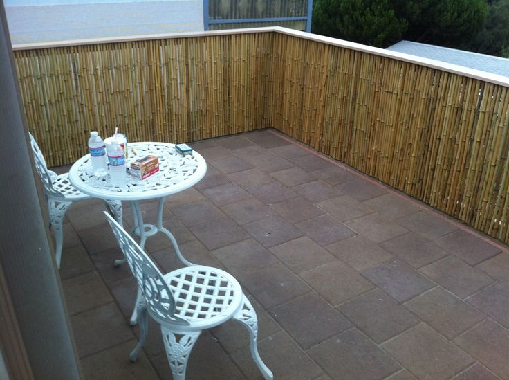 Patio Fence By Customer Dan Renke. Products Used, Bamboo Fencing Rolls By  Forever Bamboo. | Patio | Pinterest | Products, Fencing And Patio Fence