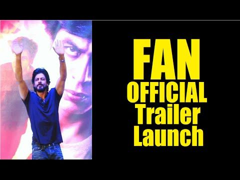 Shahrukh Khan at FAN Movie OFFICIAL Trailer Launch   FULL UNCUT VIDEO - 1.  See the full video at : https://youtu.be/ZzhwNL6CO48 #shahrukhkhan