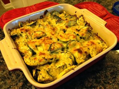 Tasty and (Mostly) Healthy Recipes: Easy Cheesy Zucchini & Squash Bake