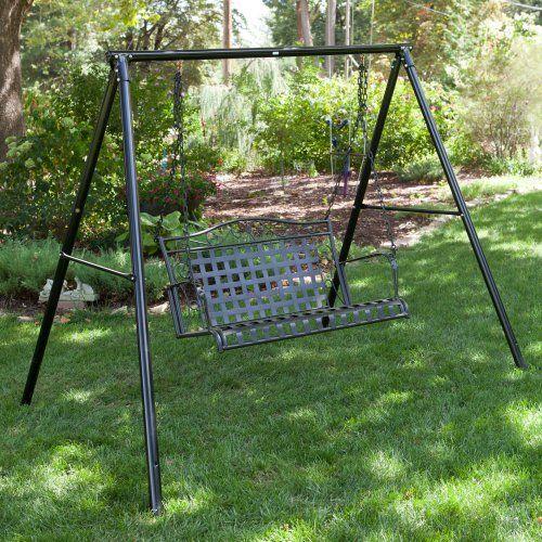 flexible flyer metal lawn swing frame frames accessories at hayneedle - Metal Swing Frame