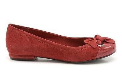 Clarks Ladies Shoes Pumps Cadiz Treasure Cherry Red Suede UK 6