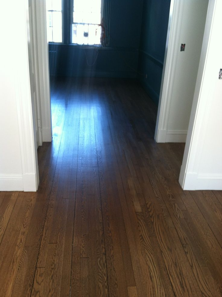 Minwax Special Walnut Stain On White Oak Flooring With 1