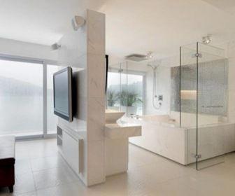 Dise o nuevo ba o integrado a la habitaci n for Banos abiertos a la habitacion