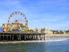 Santa Monica State Beach and pier.