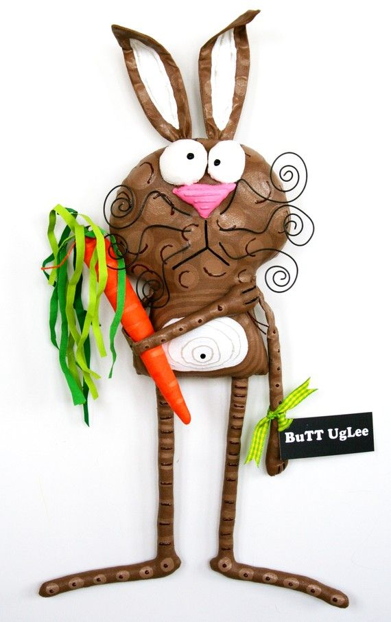 BunnY named CadburY ... Brown BuNNy with carrot ... от buttuglee