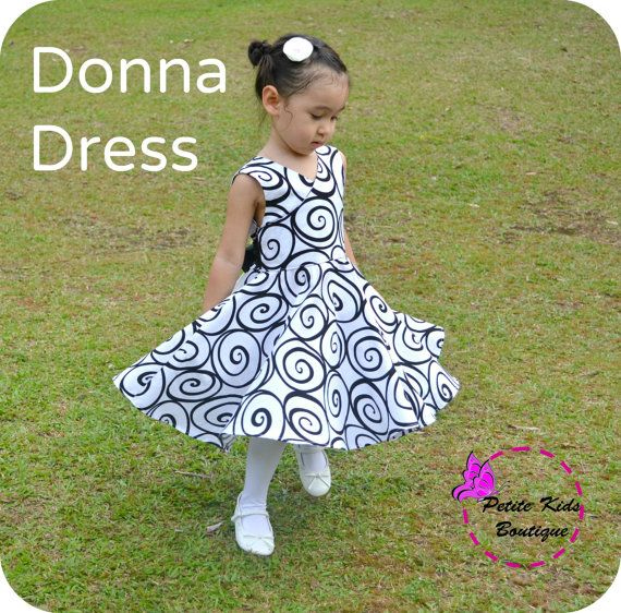 Donna Dress for Girls 12M-12Y PDF Pattern & by Petitekids on Etsy