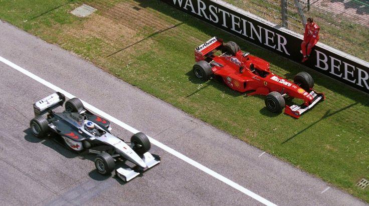 Mika Hakkinen passed M. Schumacher retired (San Marino 1999)