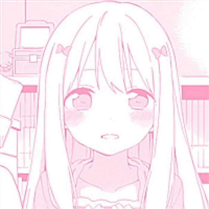 Pink Anime Girl Aesthetic Icon