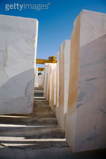Estremoz, Alentejo, Portugal. Sheets of white marble stacked and ready to be transported. (Photo: Camilla Watson) #alentejo #visitalentejo #portugal #visitportugal #travel #route #marbleroute #shades #shadesofmarble #shadesofmarbleroute #marble #white #whitemarble #tonsdemarmore #marmore #rota #estremoz