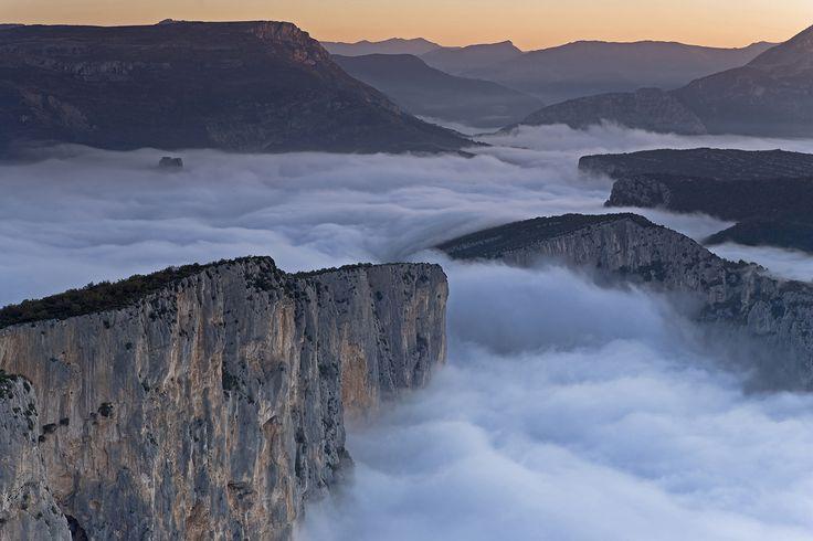 Mist in the Verdon gorges