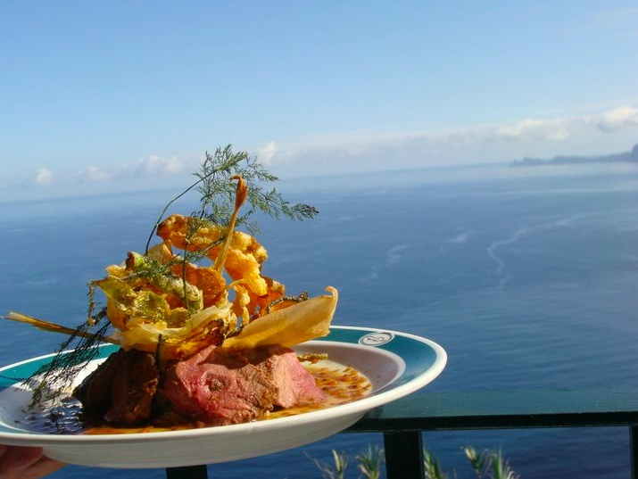 Quinta do Furao, Santana, Madeira island. View from the Restaurant's balcony.