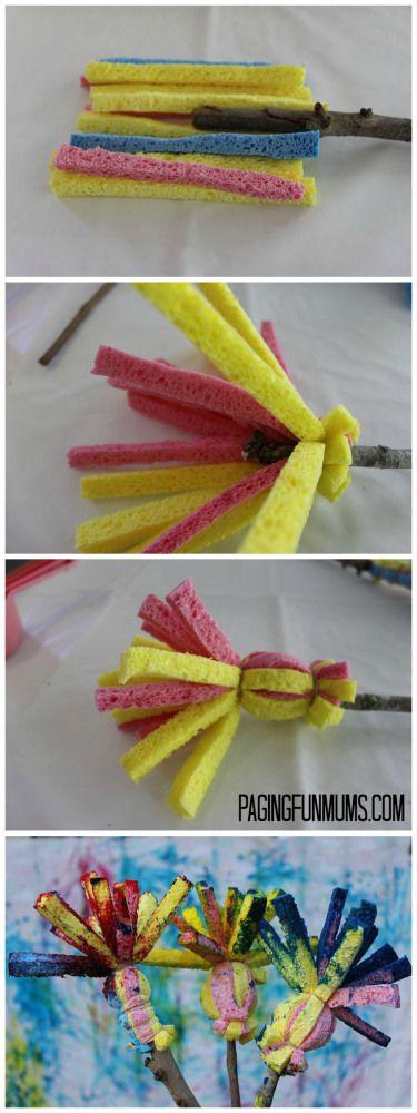 DIY Sponge Paint Brushes