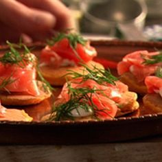 Try this Potato cakes with smoked salmon recipe by Chef Nigella Lawson. This recipe is from the show Nigella Express.