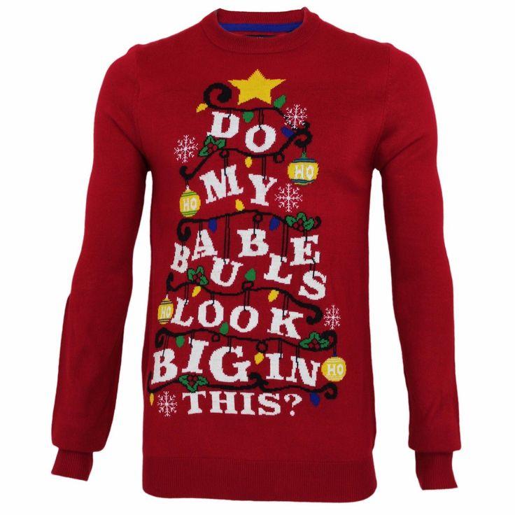 mens funny christmas jumper