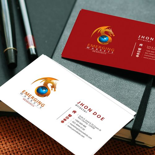 Financial company needs new logo and name card design!