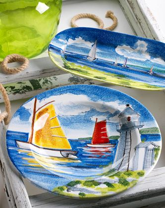I love Vietri and I love these dishes! & 161 best Nautical Dishes \u0026 Cookware images on Pinterest | Beach ...