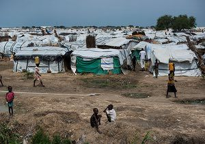 The UN base in Bentiu has become a refugee camp for 50 000 people fleeing the fighting that started in December 2013. 1.5 million people have been displaced and many of them hide in the swamps and wetlands around the country.Bentiu