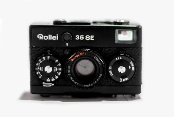 Rollei 35 SE Black Camera   HFT Sonnar 40mm por CameraCollection