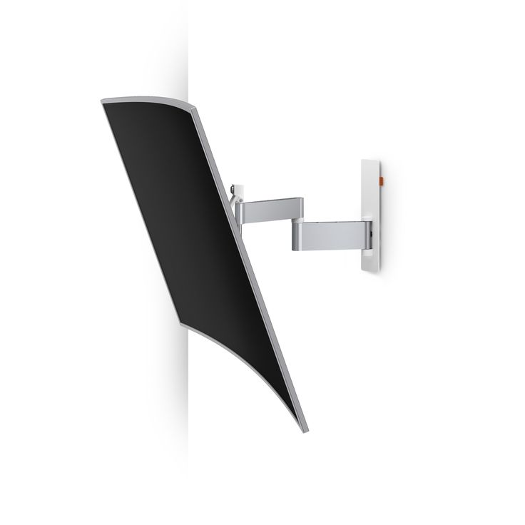 Vogel's WALL 2345 with Curved TV - Swivel TV Wall Mount (white)
