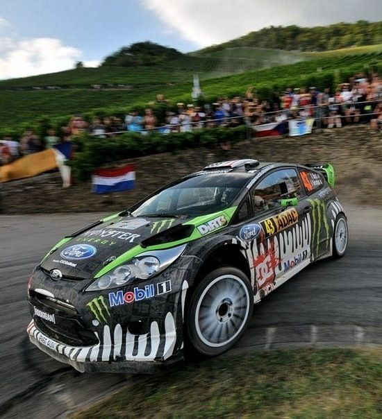 WRC Ken Block Ford Fiesta Rally. Visit www.breakeryard.co.uk for all your Ford car parts.