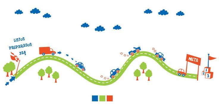 pistas de carros infantiles pintadas - Buscar con Google