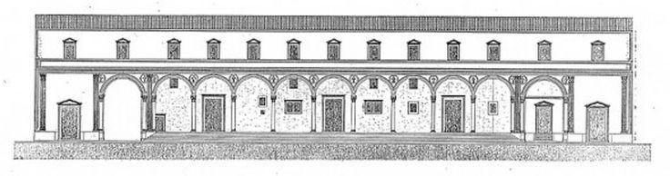 Spegeli del Innocenti by Brunelleschi roundels in terracotta by Luca della Robbia