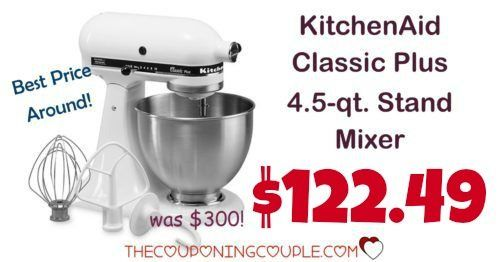 HOT PRICE NOW! BEST PRICE AROUND! KitchenAid Classic Plus 4.5 qt Stand Mixer for only $122.49! Awesome addition to any kitchen!  Click the link below to get all of the details ► http://www.thecouponingcouple.com/kitchenaid-classic-plus-4-5-qt-stand-mixer/ #Coupons #Couponing #CouponCommunity  Visit us at http://www.thecouponingcouple.com for more great posts!