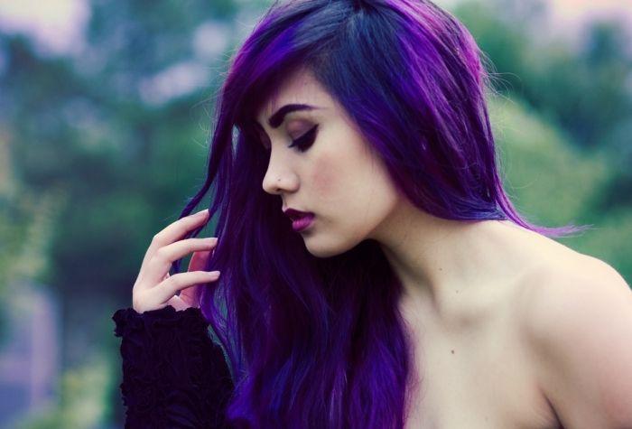 Haare Lila Farben Blau Lila Haare Haarstylings Fur Junge Frauen