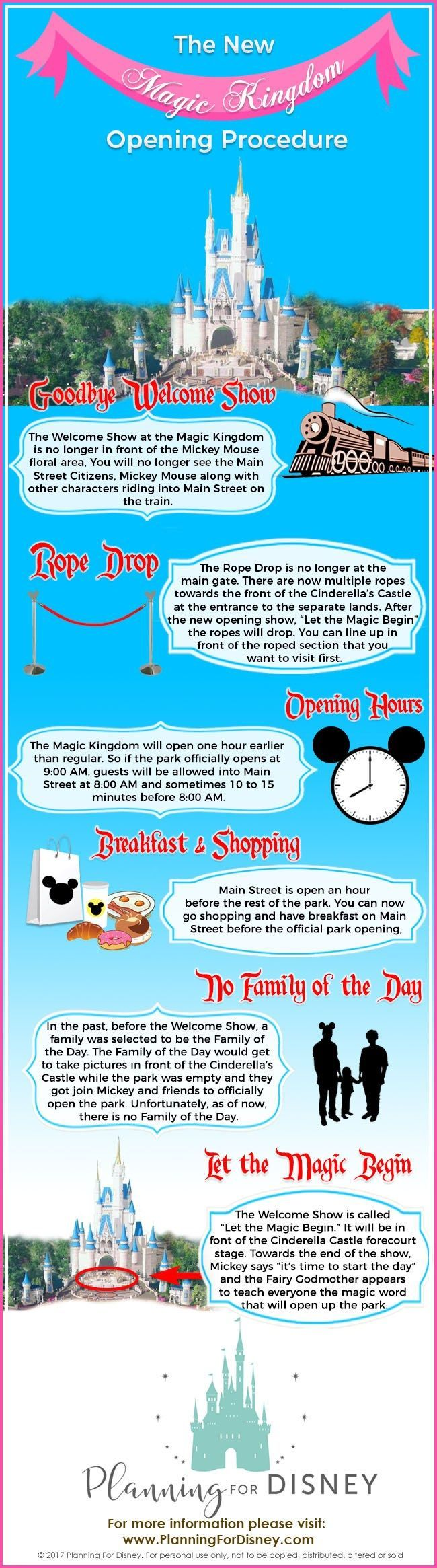 10 Things you Need to Know about the Magic Kingdom New Morning Procedure. Know before you go. Pin it and read it later. � Planning For Disney