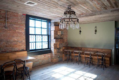 rucola: Wood, Restaurant Design, Posts, Boerum Hill