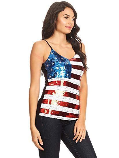 44f8e86087e9c1 GOD BLESS THE U.S.A.! Womens Patriotic USA Flag American   Anna-Kaci ...