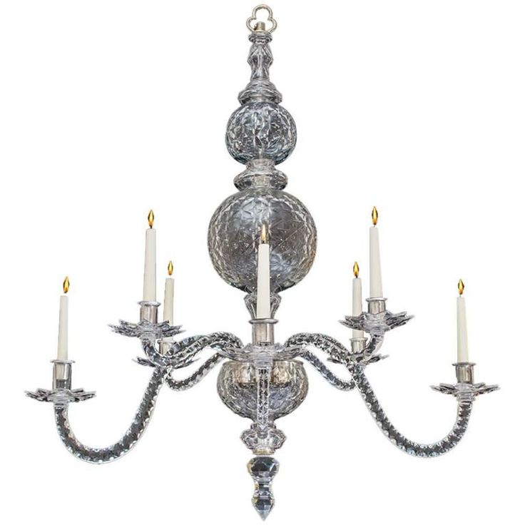 extremely rare english george ii period cutglass chandelier from a unique collection of